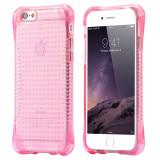 Husa silicon anti soc iphone 5, 5s, SE - anti alunecare - roz - Husa Telefon