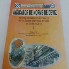 INDICATOR DE NORME DE DEVIZ PENTRU LUCRĂRI DE INSTALAȚII DE ÎNCĂLZIRE CENTRALĂ - Carti Constructii