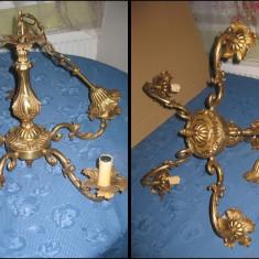 Candelabru vechi masiv bronz stil Baroc 5 brate stare buna.