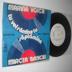 Melodii De DAN DIMITRIU: Marina Voica/Mircea Baniciu: Saptamana (ST-EDC 10.756) - Muzica Pop electrecord, VINIL