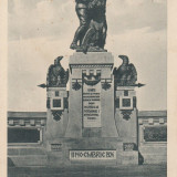 BUCOVINA , CERNAUTI , MONUMENTUL UNIRII 11 NOIEMBRIE 1924