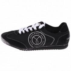Adidasi originali unisex Calvin Klein Jeans- cu piele naturala - in cutie- 40 - Adidasi barbati Calvin Klein, Culoare: Negru