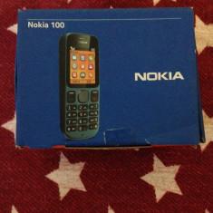 OFERTA! cutie telefon nokia 100 URGENT, Albastru, Nu se aplica, Neblocat, Fara procesor