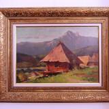 HONORIU CRETULESCU (1897-1977), Peisaj montan, ulei pe carton