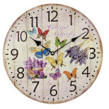 Ceas de lemn de perete Butterfly - Ceas de perete