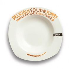 Farfurie pentru supa Nava portelan diametru 23 cm seria Funky