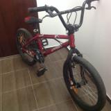 Vând bicicleta BMX, 20 inch, Numar viteze: 1