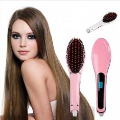 Perie ionica pentru indreptat parul - Fast Hair Straightener - Placa de par
