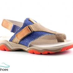 Sandale din piele naturala si jeans BAM 354 - Sandale copii, Marime: 31