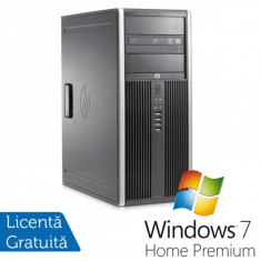 Hp 8200 elite tower, Intel Core i3-2100 3.1Ghz, 4Gb DDR3, 250 Gb SATA, DVD-ROM + Windows 7 Home Premium - Sisteme desktop fara monitor