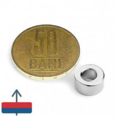 Magnet neodim puternic inel 10 x 05 x 05 mm experimente magnetice