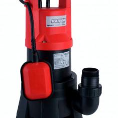 070134-Pompa submersibila cu plutitor pentru ape uzate 1300 W Raider Power Tools - Pompa gradina Raider Power Tools, Pompe submersibile, de drenaj