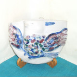 Vaza de perete relief, ceramica - Obiect de expozitie - semnata Amie Stalkrantz