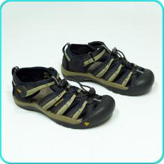 DE FIRMA _ Sandale / pantofi vara, PIELE, calitate KEEN _ baieti, fete   nr. 35 - Sandale copii Keen, Culoare: Negru, Unisex, Piele intoarsa