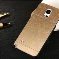 Husa aurie aluminiu +plastic MOTOMO calitate Samsung Galaxy S5 i9600 G900 +folie - Husa Telefon Samsung, Auriu, Metal / Aluminiu