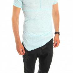 Tricou tip ZARA bleumarin - tricou barbati - tricou slim fit - 6541, Marime: S, L, XL, Culoare: Din imagine