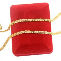 Lantisor placate cu aur - Lanț filat in aur de 18 k