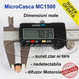 MicroCasca MC-1500 MicSpy cu colier si baterie Sony pt CASCA japoneza de examen