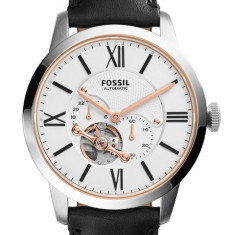 Ceas Fossil automatic barbatesc cod ME3104 - pret 895 lei (NOU; original) - Ceas barbatesc Fossil, Elegant, Mecanic-Automatic, Inox, Piele, Analog