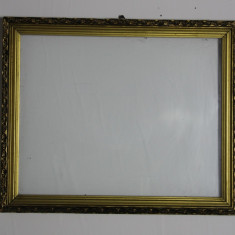 Rama de tablou din lemn 54X44 cm, cu geam; Rama oglinda - Tablou autor neidentificat, Scene gen, Ulei, Altul