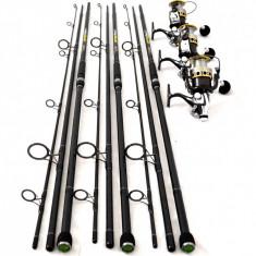Set 3 Lansete OXYGEN EXCELLENT CU 3 Mulinete G6500 CU 11 Rulm Si Baitrunner - Lanseta, Lansete Crap, 3.6 m, Numar elemente: 3