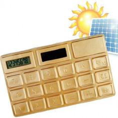 Calculator solar auriu - Calculator Birou