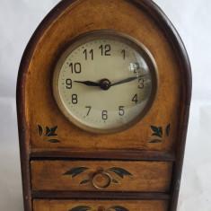 Ceas quartz de semineu/ masa din lemn 28cm - Ceas de masa