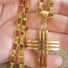 Lant medalion inox placat = 50 ron - Lantisor placate cu aur