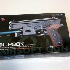 Pistol de jucarie - Pistol cu bile Air Soft CL-P88k