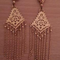 Cercei dama 9k gold filled - Cercei Fashion