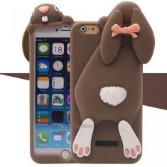 Husa Iphone 6 Moschino iepure maro - Husa Telefon Moschino, iPhone 6/6S, Silicon