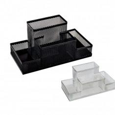Masina de perforat - Suport din plasa metalica cu 4 compartimente pentru birou