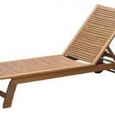 Mobilier camping - Sezlong lemn pentru gradina/plaja