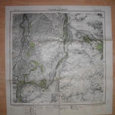 HARTA PECINEAGA-GIURGENI SI IMPREJURIMILE, 1916 - Harta Romaniei