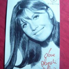 Fotografie cu autograf -Sandie Shaw - Cantareata Britanica anii '60