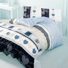 Lenjerie de pat din bumbac Valentini Bianco VKR10 Century Turqoise