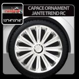 Capace ornament jante Trend RC 4buc - Argintiu - 14' - CRD-VER1424 - Capace Roti