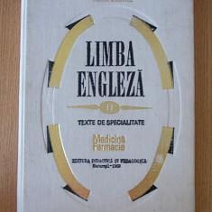 LIMBA ENGLEZA, TEXTE DE SPECIALITATE- MEDICINA, FARMACIE- STEFANESCU, DOBROVICI - Curs Limba Engleza