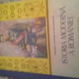 ISTORIA MODERNA A ROMANIEI DE HUREZEANUetc, 1989, 188 pag cartonata, manual cl 11 - Manual Clasa a IX-a, Istorie
