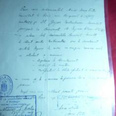 Procura cu stampila Legatiei Regale a Romaniei 1929