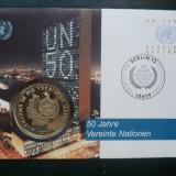1995 Germania - FDC si medalie ( Natiunile Unite 50 de ani )., Europa