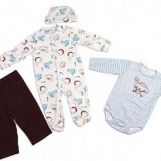 Set hainute 4 piese pentru bebelusi Nice Dino Carters 9 luni, Bleu