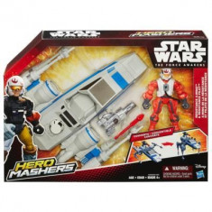 Jucarie Star Wars Hero Mashers Episode Vii Resistance X-Wing And Resistance Pilot - Vehicul Hasbro