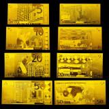 EUROPA - SET 8 BANCNOTE EURO POLYMER AURITCU AUR 24k