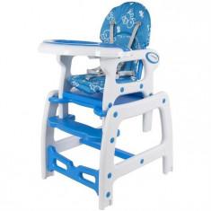 Scaun De Masa Multifunctional Abrielle - Sun Baby - Albastru - Masuta/scaun copii