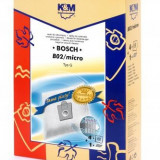 Sac aspirator pentru Bosch/Siemens typ E, D, G, sintetic, 4 saci + 1 filtru, K&M