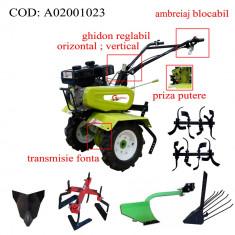Gardelina Motocultor A02001023, 7 CP, freze, roti, plug hoby, prasitoare hoby, rarita fixa, plug cartofi, 700-1000 mm