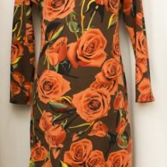 Rochie model trandafiri, marimea M/L, noua - Rochie de zi, Culoare: Din imagine, Lunga