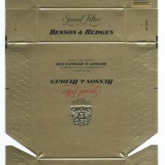 Pachet tigari - Ambalaj pachet cartonat tigari Benson&Hedges / nefolosit