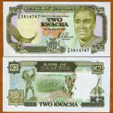 Bancnota Straine, Africa - !!! RARR : ZAMBIA - 2 KWACHA (1989) - P 29 - UNC